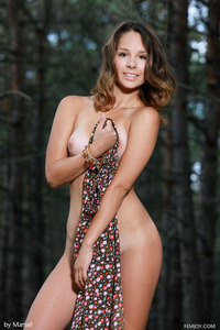 Arina F Getting Totally Nude In The Forest 03