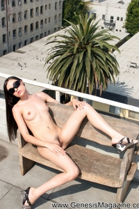 Sasha Grey Nude On The Rooftop 06
