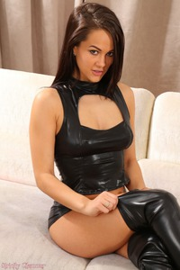 Felicity Hill In Hot Latex Lingerie And Boots 03