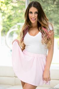 August Ames In Pink Panties 00