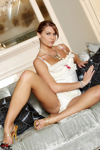 Adrienne Manning Frilly White Lingerie 02