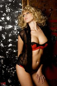Carli Banks Red Lingerie 05