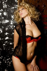 Carli Banks Red Lingerie 14