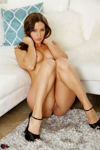 Gracie Glam Strips Nude And Toys Herself 07