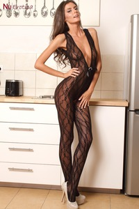 Sunshine In Sexy Black Lace Bodystocking 00
