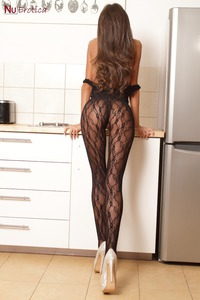 Sunshine In Sexy Black Lace Bodystocking 02