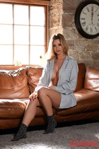 Danielle Anderson Strips On A Couch 00