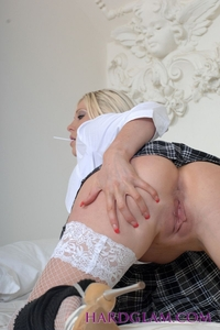 Michelle B Masturbating Is Sexy School Girl Outfit 03