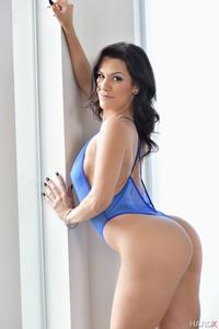 Hot Latina Samia Duarte In Sexy Blue Lingerie 02