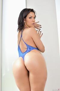 Hot Latina Samia Duarte In Sexy Blue Lingerie 10