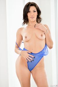 Hot Latina Samia Duarte In Sexy Blue Lingerie 11