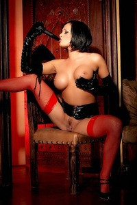 Tory Lane Getting Naughty In Her Shiny Dominatrix Wear 01