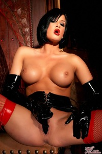 Tory Lane Getting Naughty In Her Shiny Dominatrix Wear 03