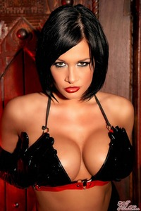 Tory Lane Getting Naughty In Her Shiny Dominatrix Wear 08