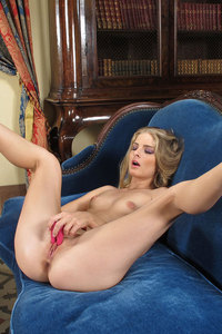 Cayenne Klein Horny Blonde On A Blue Couch 13