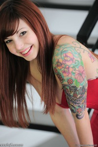 Tattooed Teen Redhead Angel 03