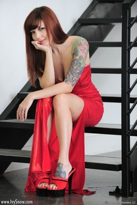 Tattooed Teen Redhead Angel 04