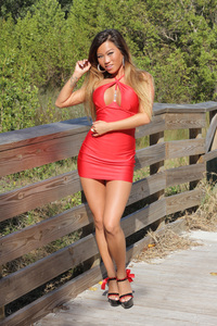 Jada Cheng Sexy Red Dress 00