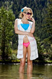 Katie Banks In Colorful Bikini 00