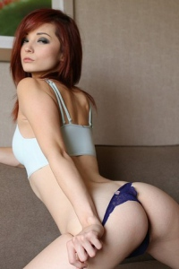 Redhead Witch Kylie Cole Posing To You 14