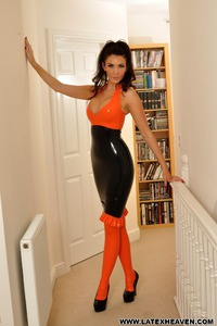 Horny In Latex Dress 00