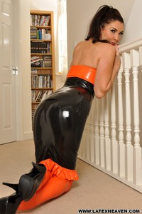 Horny In Latex Dress 03