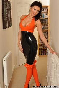 Horny In Latex Dress 04