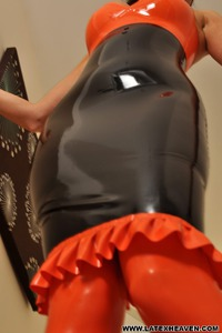 Horny In Latex Dress 07