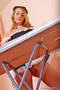 Horny Maid Betsy In Fishnet Pantyhose 03