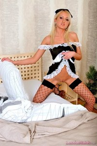 Blonde Maid Posing In Hot Uniform 03