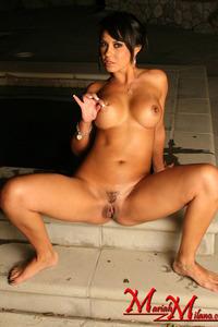 Mariah Milano Strips Her Hot White Bikini 17