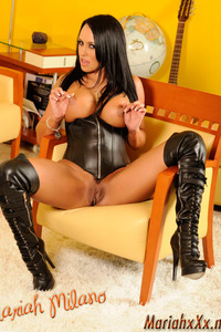 Mariah Milano Black Leather Corset And Boots 12