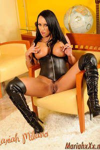 Mariah Milano Black Leather Corset And Boots 14