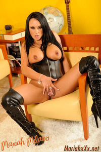 Mariah Milano Black Leather Corset And Boots 15