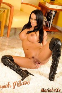 Mariah Milano Black Leather Corset And Boots 19