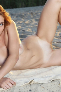 Kika Posing Naked At Beach 17