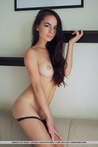 Brunette Latin Teen Debora Posing Naked 01