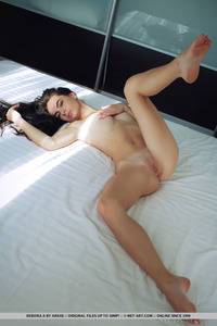 Brunette Latin Teen Debora Posing Naked 09