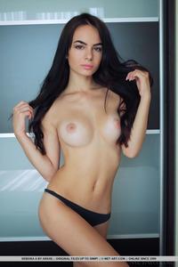 Brunette Latin Teen Debora Posing Naked 15