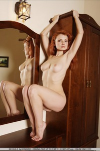 Sexy Natalia Naked By The Mirror 14