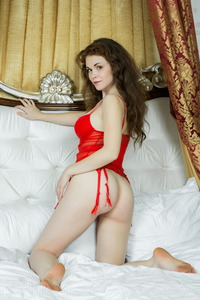Estelle I Nsexy Red Lingerie 04