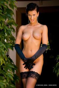 Nicoletta Neo Black Stockings 07