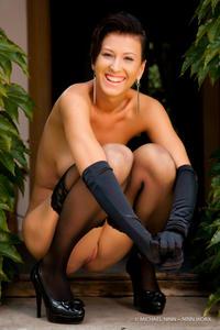 Nicoletta Neo Black Stockings 11