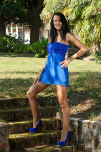 Sexy Sapphira Gets Naked Outdoors 00