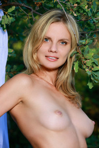 Perfect Blonde Teen Heidi Hawley Strips Outdoors 07