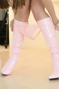Capri Anderson Pink Boots 05