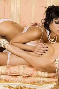 Lela Star And Sasha Singleton Lesbian Fun On The Couch 05