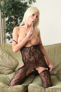 Amateur Blonde In Bodystocking 01