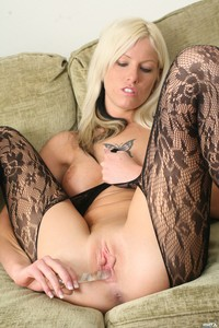 Amateur Blonde In Bodystocking 11