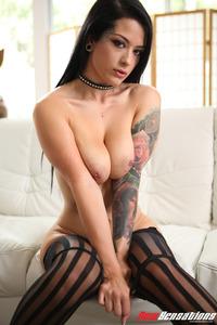 Sexy Tattooed Babe Katrina Jade Spreading 13